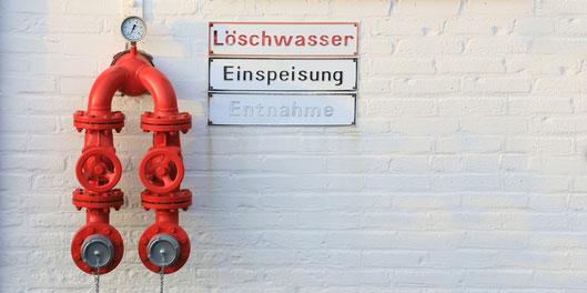 Bild zum Thema Brandschutz Löschwassereinspeisung